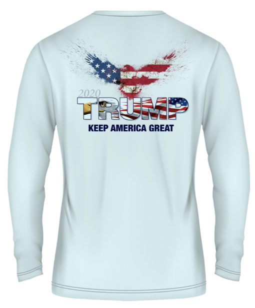 long sleeve eagle ice blue back